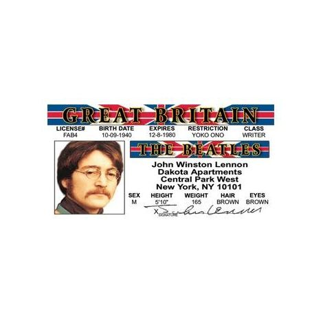 John Lennon the Beatles License