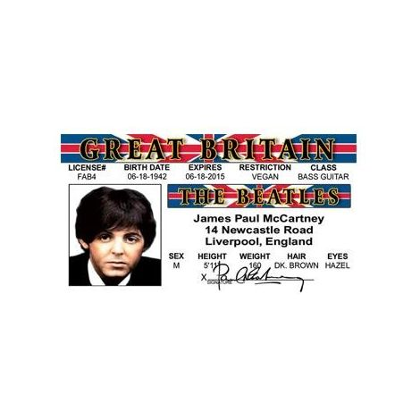Paul McCartney the Beatles License