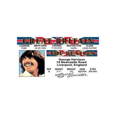 George Harrison the Beatles License