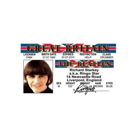 Ringo Star the Beatles License