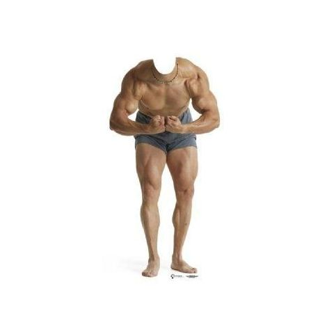 Muscle Man Stand-In Cutout 699