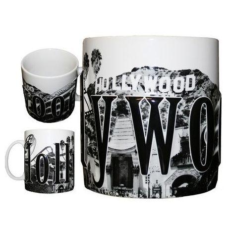 Hollywood 18 OZ Embossed Coffee Mug