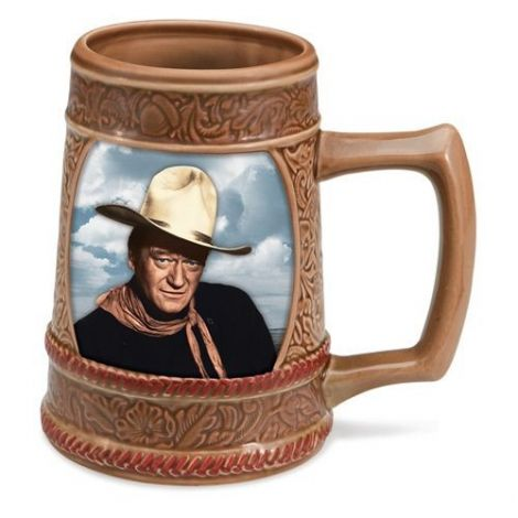 "John Wayne ""American Legend"" Ceramic Sculpted Stein"
