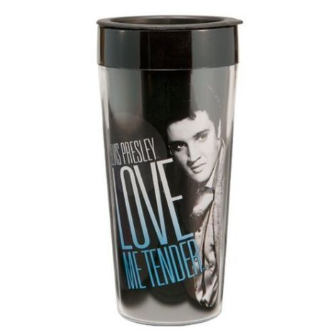 Elvis Presley 16 oz. Plastic Travel Mug