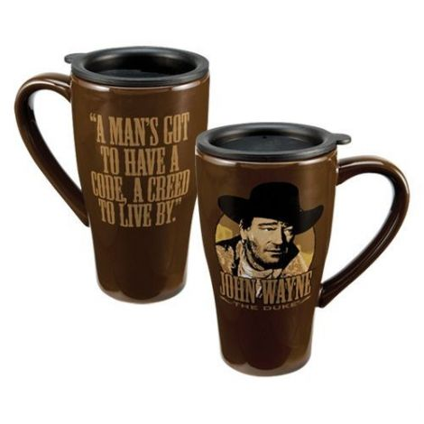 John Wayne 16 oz. Ceramic Travel Mug