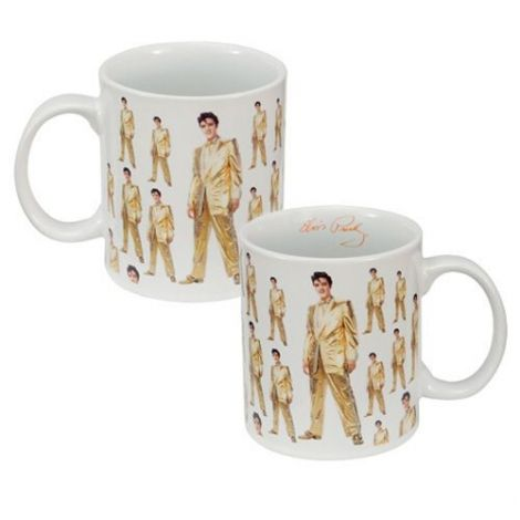 "Elvis Presley ""Gold Lame Suit"" 12 oz. Ceramic Mug"
