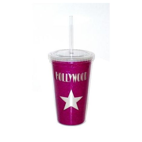 Hollywood Berry Star Reusable plastic Travel cup
