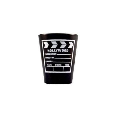 Black & White Clapboard Shotglass