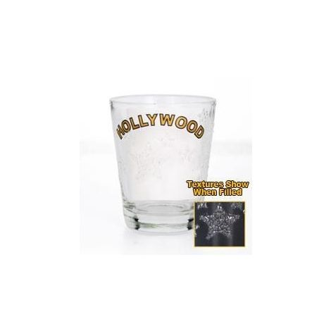 Hollywood Shotglass with textured stars