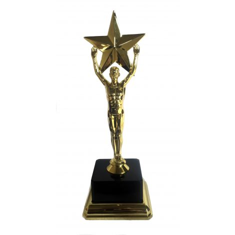 Large star trophy with a square base