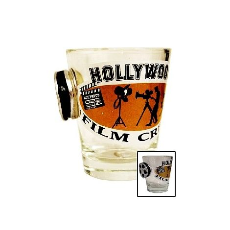 Hollywood Film Crew shot glass