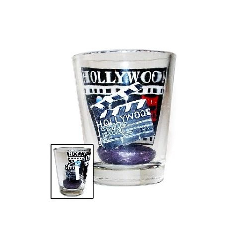 Hollywood shot glass with clapboard