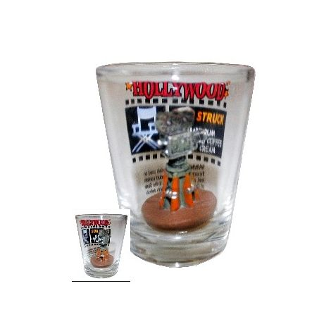 Hollywood shot glass with camera