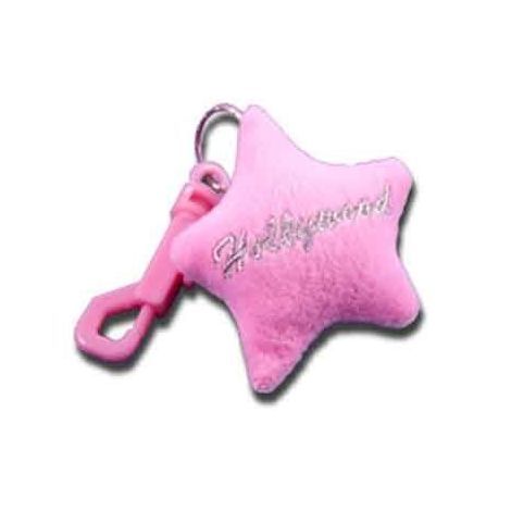 Plush Star Keychain -Pink