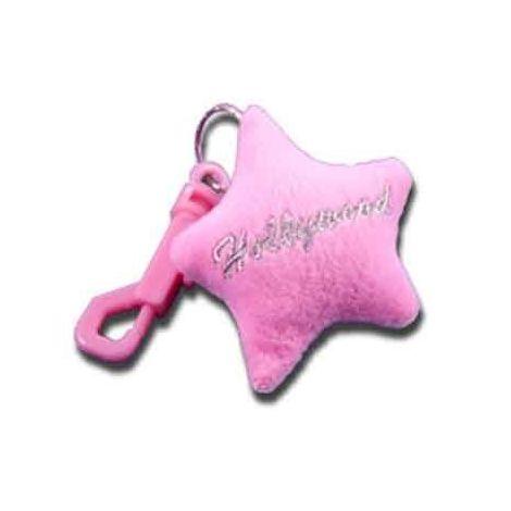 Plush Star Keychain -Pink
