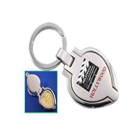 Clapboard Heart Photo Keyring