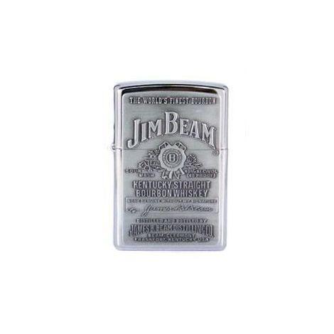 Jim Beam Engraved Zippo Lighter (Silver)