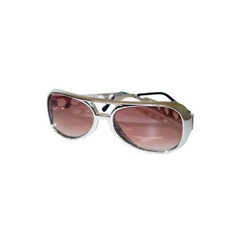 Original Elvis' Style Sunglasses Silver color