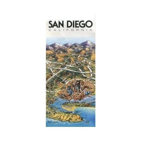 San Diego, California : 3d Map