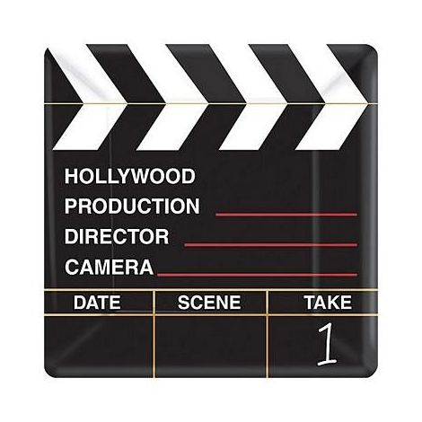 Large Director Cut Clapboard Paper Plates