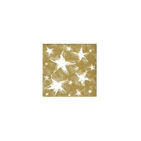 Gold Stars Lunch Napkins