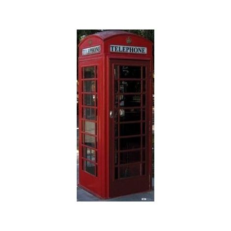 English Phone Booth Cutout 698
