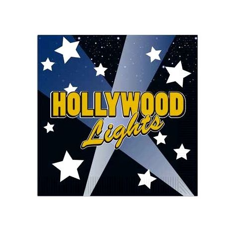 Hollywood light beverage napkins