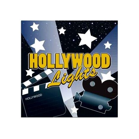 Hollywood lights Luncheon napkins
