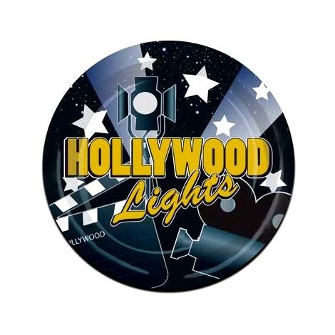 Hollywood nights plates 9  inches