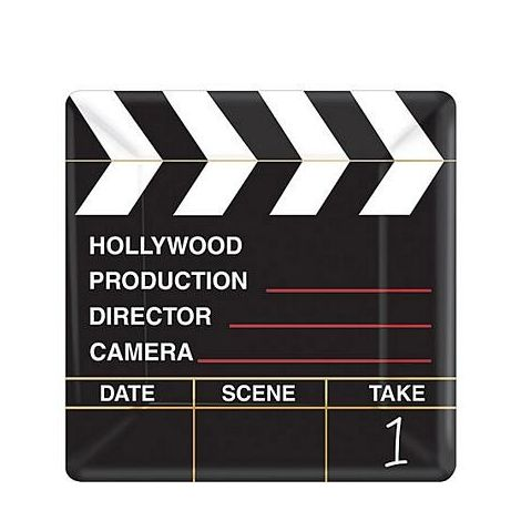 Director Cut Small Clapboard Paper Plates
