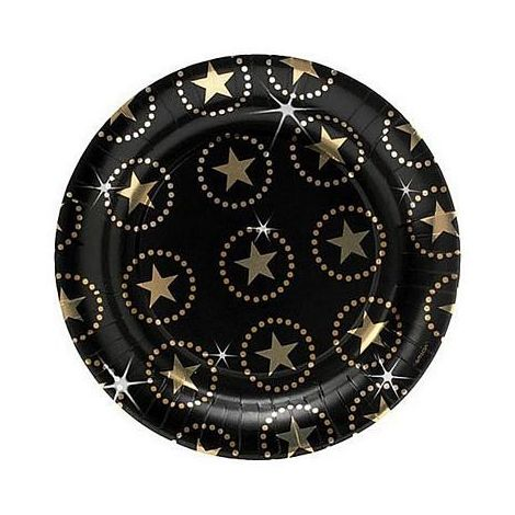 Star Attraction Metallic Dinner Plates