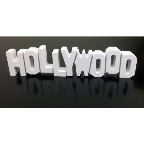 White Wooden Hollywood Sign