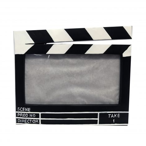 Director Clapboard Ceramic  Picture Frame- 4x6