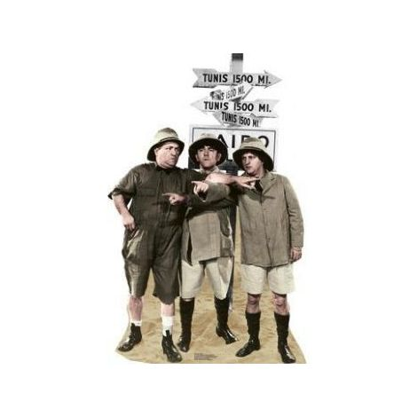 Three Stooges Safari Cutout