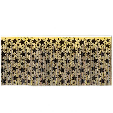 Gold Stars Metallic Table Skirting