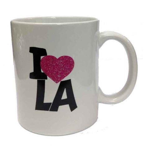 White I love LA Mug