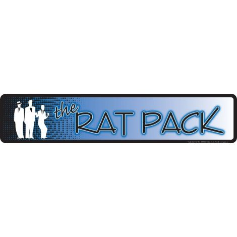 Rat Pack Tin Sign