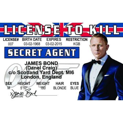 Daniel Craig Secret Agent ID