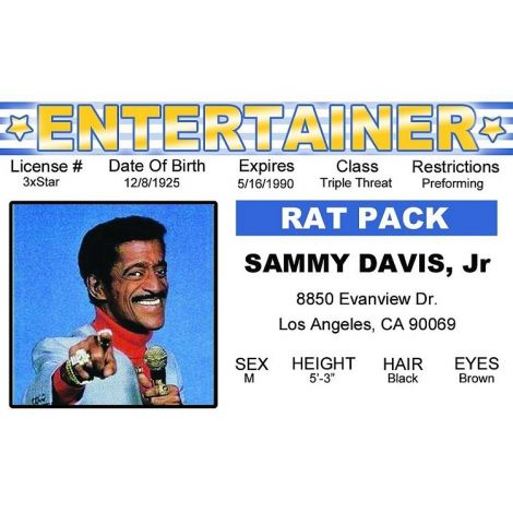 Sammy Davis Jr. Entertainer ID