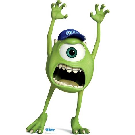 Mike Wazowski, Monsters University Cardboard Cutout #1499