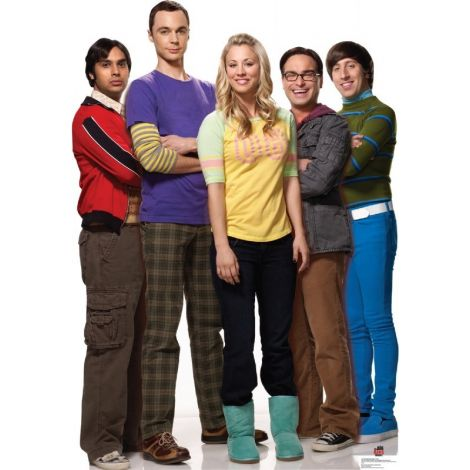 Group from TV show Big Bang Theory Lifesize cardboard cutout #1414
