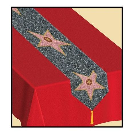 Printed Walk of Fame Stars table runner