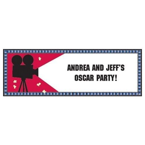 Hollywood Giant Party Banner with stickers