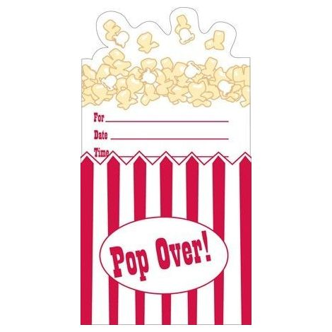 Popcorn Pop Over Hollywood Invitations