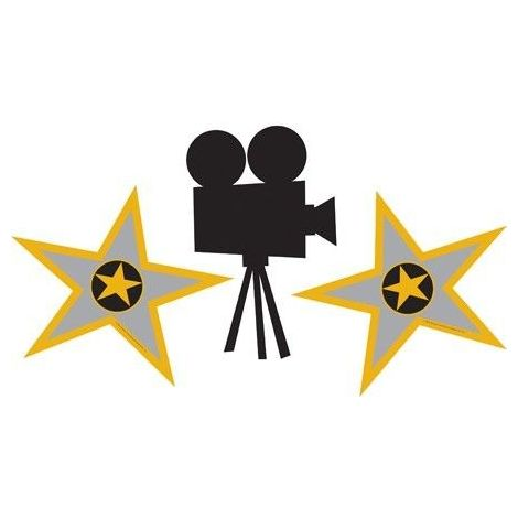 Stars and Movie Projector Camera Cutout