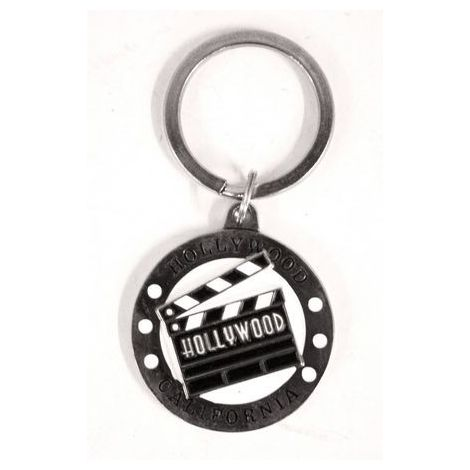 Metal Clapboard Key Chain