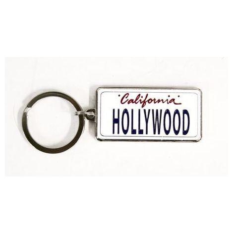 Hollywood License Plate Style Key Chain