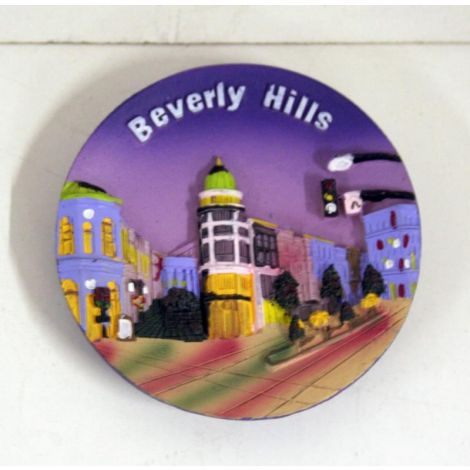 Beverly Hills Magnet Decorative Plate