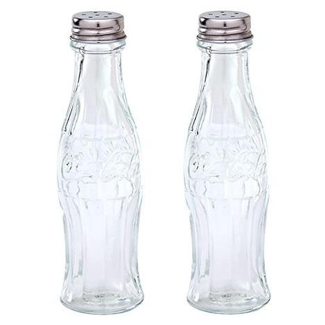 Coca-Cola Glass Salt & Pepper Shakers