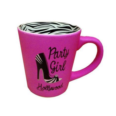 Pink Hollywood Party Girl Coffee Mug